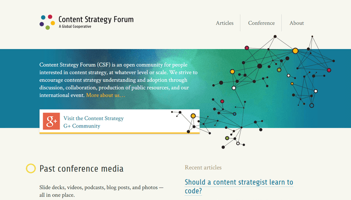 Content Strategy Forum